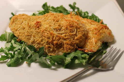 Parmesan crusted tilapia mary in the kitchen for Parmesan crusted fish
