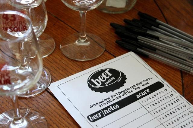 Beer Tasting Score Cards