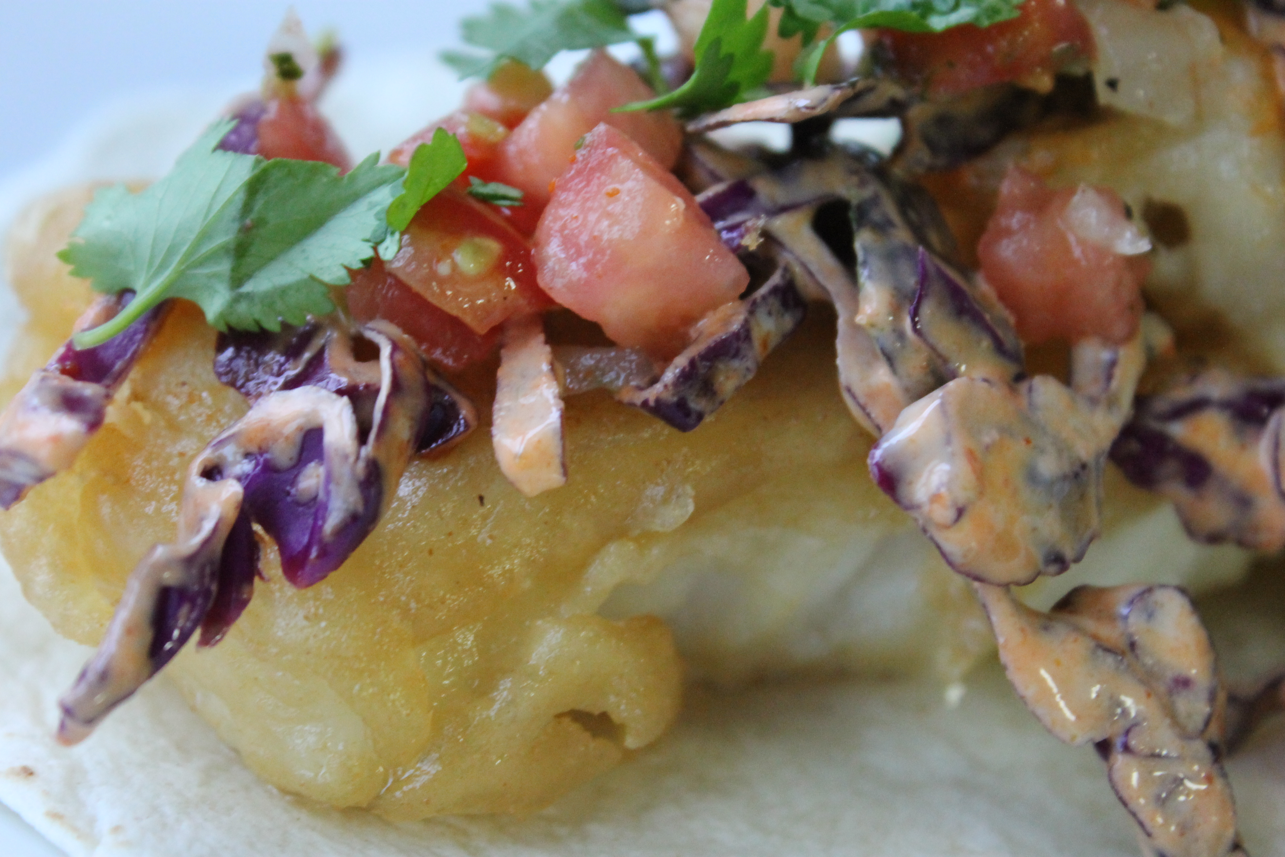Mary in the kitchen beer battered fish tacos for Fish taco batter